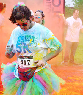 A tutu added just a little more color to this runners outfit.