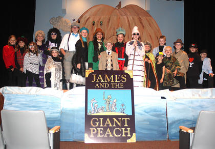 "Pictured is the ""blue cast"" of ""James and the Giant Peach."""