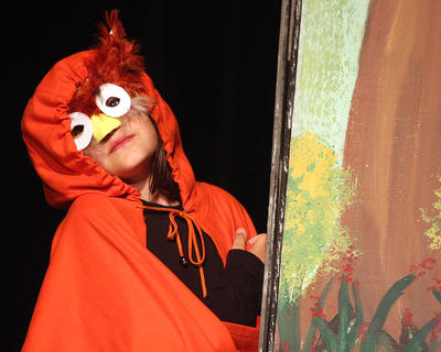 Molli Smothers plays the part of an Owl during the musical. She was also a goon and a guard during the performance.
