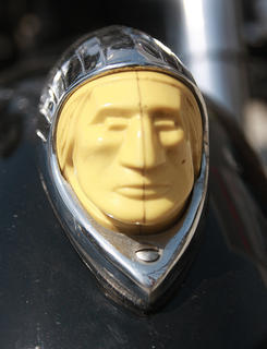 This head adorned the front of Roger Long's 1951 Indian. Long is from Fishers, Indiana.