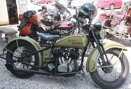 This 1928 Harley-Davidson was one of the older motorcycles in the bunch.