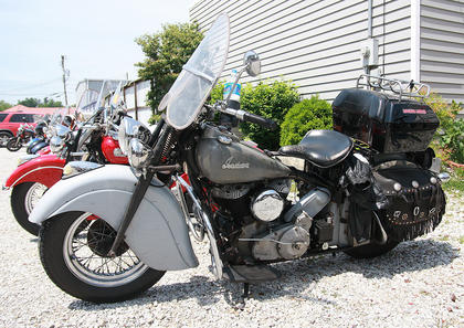Indian motorcycles were also well-represented in the group.