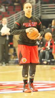 Makayla Epps warms up for the 2013 McDonald's All American Game.