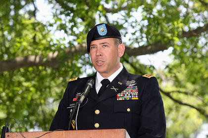 Major Joe W. Warren Jr. was the guest speaker during the event.