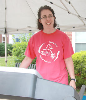 Lee Morgeson was in the first group of Treadmill Challenge participants.