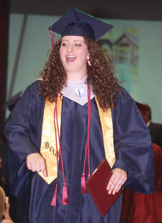 Sarah Spalding celebrates being a high school graduate.