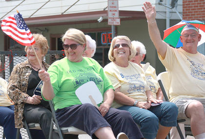 Bradfordsville's senior citizens were the grand marshals of this year's parade.