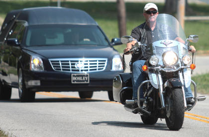 Members of the Patriot Guard Riders of Kentucky also escorted the funeral procession.