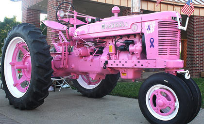 "A pink breast cancer awareness tractor, owned by James Hughes was on display at Relay for Life, and was a bit hit. ""Everybody loved it,"" Lisa Sandusky, Relay for Life co-chair, said. ""We had one little boy ask, ""How much are the chances on the tractor.'"""