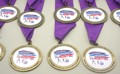 Pictured are this year's survivors' medallions.