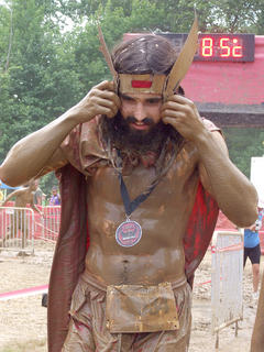 Greg Artiushin of Lexington ran the race in Thor costume.