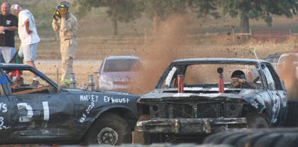 Mud sprayed during collisions that are normally avoided in every day circumstances.