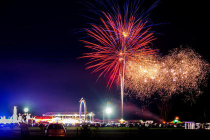 Photographer Don Sniegowski shared this photo with the Enterprise of the fireworks at the fair Friday night.