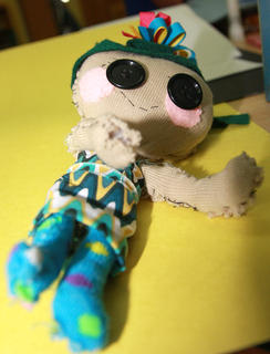 One of the visual arts students made this doll.
