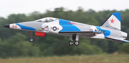 Another example of a military scale model jet.