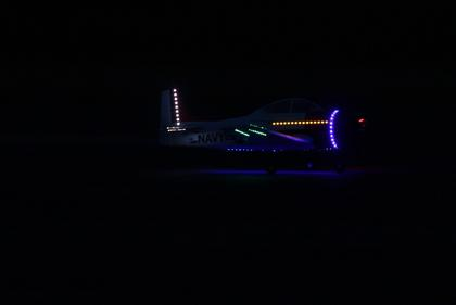 At dark, pilots who had planes with their own lights had the runway to themselves.