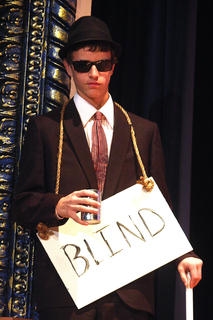 Taylor Lanham plays a blind man.