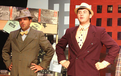Jerry Fowler Jr., left, plays the part of Society Max and DJ Price is Dave the Dude.