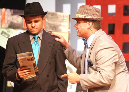 Pictured are Michael Brian Welch as Sky Masterson and Jody Graham as Nathan Detroit.