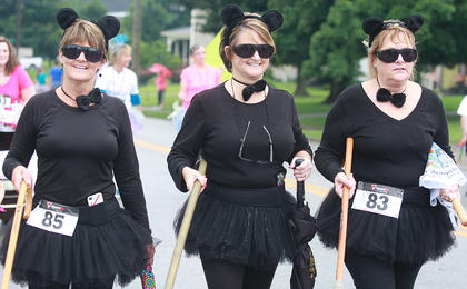 The Three Blind Mice were, from left, Isabelle Duley, Nancy Elder and Marilu Farnham.