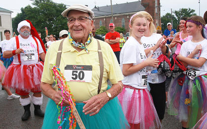 "Springfield Mayor John Cecconi, 81, was the oldest participant. He was a member of the ""Minority Rules"" team."