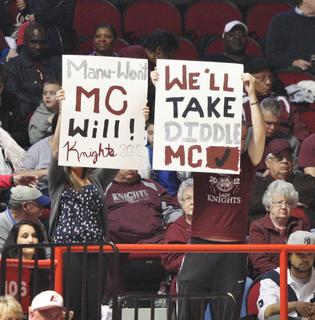 Marion County fans show their support for the Lady Knights.