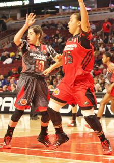 Makayla Epps looks to post up during the McDonald's All American Game.
