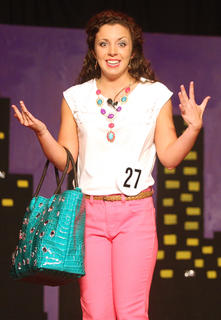 Stephanie Ann Farmer performs a monologue during the talent portion of the competition.