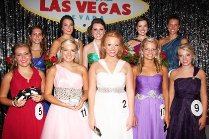 Pictured are the participants who received awards during the 2013 Marion County Distinguished Young Woman program. Front row (from left): Mary Helen Hamilton (preliminary scholastic, self-expression, and fitness awards), Madeline Peterson (talent award), Haley Hamilton (Spirit Award), Ann Thomas Daugherty (fitness award), and Katie Bradshaw (fitness award). Back row: Gabrielle Hamilton (first runner-up, overall scholastic, interview, self-expression and talent awards), Claire Hagan (third-runner-up, interview award), Hannah Wilson (2013 Marion County Distinguished Young Woman, preliminary scholastic, interview, self-expression and talent awards), Abigail Hagan (second runner-up, preliminary scholastic and talent awards), and Johannah Leake (Be Your Best Self award).