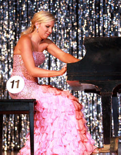 Madeline Peterson plays the piano.