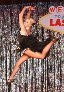 Katie Bradshaw leaps during a dance performance.