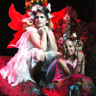 Emma Humphress, Karis Smith, Victoria Thomas play three of the five fairies in the play.