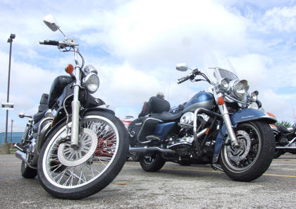As the weather started to clear up, more motorcycles and riders arrived.