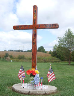 A memorial on Danville Highway marks where Rakes was shot Nov. 14, 2012. That stretch of Danville Highway was renamed the Deputy Sheriff Carl Anthony Rakes Memorial Highway earlier this year.