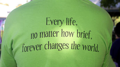 A quote on the back of a March for Babies participant speaks volumes.