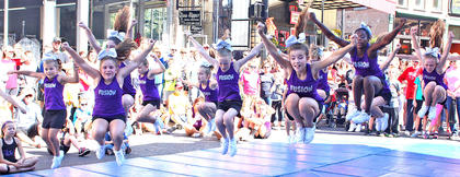 Young gymnasts from Fit Kids performed for the crowd at Ham Days Saturday morning.