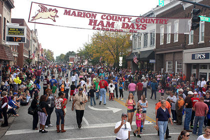 The crowd at this year's Marion County Country Ham Days was one of the biggest crowds in recent history.