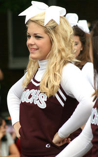 Savannah Fogle marched with the Marion County High School cheerleaders in the parade.