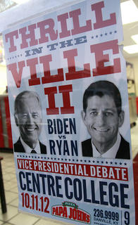 The Vice Presidential Debate was promoted as The Thrill in the 'Ville II. Centre also hosted the 2000 Vice Presidential Debate.