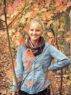 Photo by Lisha Mitchell Natalie Newton enjoys the fall weather.