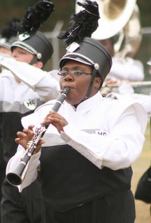 Labriette Owens plays the clarinet during Saturday&#039;s performance.