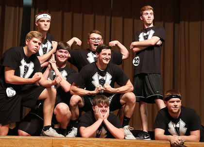 Pictured is the Spectre group striking a pose at the end of the physical fitness portion of the competition.