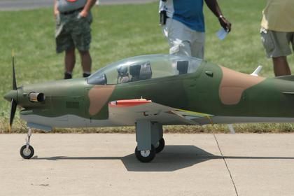 Just like with full-scale planes, the model jets must line up before being cleared for takeoff.