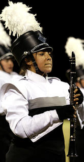 Jasmine Magana composes herself at the end of the band's performance.