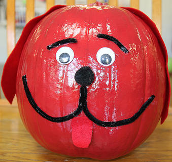 Clifford the Big Red Dog, the children's book series, which inspired this pumpkin, was first published in 1963.