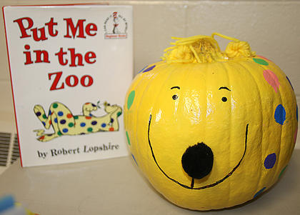 "They say a leopard can't change his spots – but Spot sure can in the book, ""Put Me in the Zoo."""