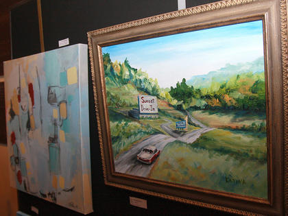 Pieces included in the live auction were on display in Angelic Hall.