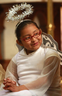 Ashley Garcia was a little angel for All Saints Day.