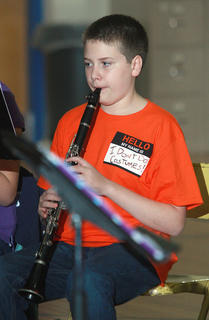 Jackson Martin may not do costumes, but he does play the clarinet.