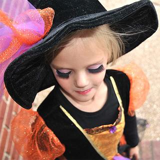Josie Gordon, 4, shows off her fake eyelashes, which were a part of her witch ensemble. Her grandmother, Vicky Perkins, submitted this photo.